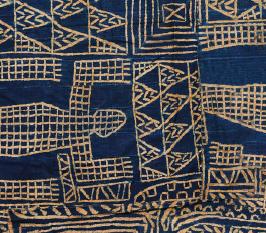 Détail d'un tissu ndop de style Wukari. Cameroun  © Collection Fondation Jean-Félicien Gacha