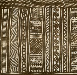 Détail d'un tissu bogolan. Peuple Bamana, Mali.  © Collection Fondation Jean-Félicien Gacha