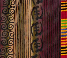 Détail d'un tissu adinkra.Ghana, Ntonso. Peuple Ashanti © Collection Anne Grosfilley