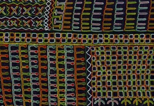 Détail d'une tunique. Niger. Agadès. Peuple Wodaabe © Collection Anne Grosfilley