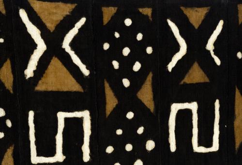 Détail d'un bogolan, Mali, Peuple Bamana © Collection Anne Grosfilley